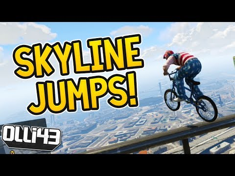 BMX SKYLINE JUMPS! Olli43 vs Geo23 -...