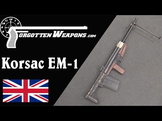 The Korsac EM1 - a British/Polish Bullpup FG-42