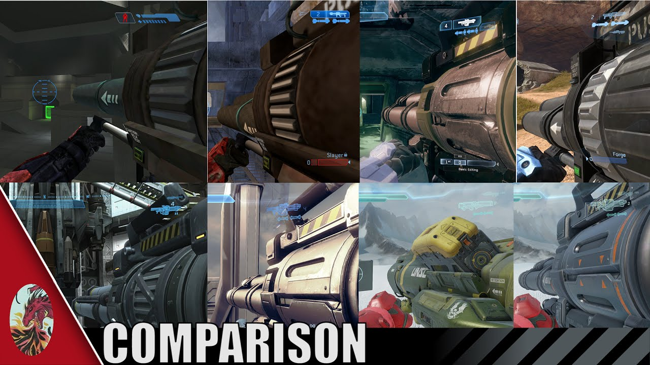 Halo 1-5 Rocket Launcher Comparison (All Halo Games Included)