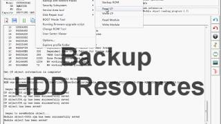 How to  Backup Firmware Resources of Seagate F3  with MRT data recovery tools
