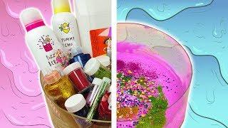 25 Zutaten XXL Slime   Mega Schleim Experiment   Zu viele Zutaten im Sleim?!   DIY Schleim Idee