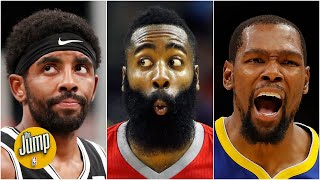 Who takes the last shot for the Nets: Kevin Durant, James Harden or Kyrie Irving? | The Jump