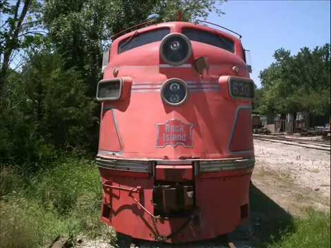 RIDING TRAIN AT BALDWIN CITY KANSAS