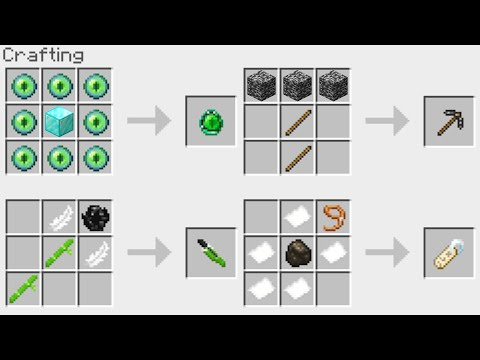 NEW Minecraft 1.14 Crafting Recipes!