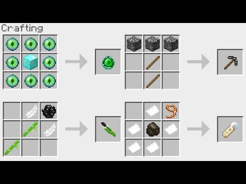 New Minecraft 114 Crafting Recipes Youtube