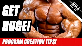 How to Create A Muscle Building Program for Muscle Growth, Size and Strength