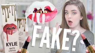 BRAND NEW KYLIE COSMETICS LIPSTICKS? TESTING FAKE KYLIE JENNER PRODUCTS!