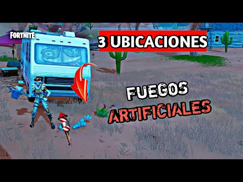Lanza Fuegos Artificiales En Fortnite Semana 4 Temporada 7 Youtube