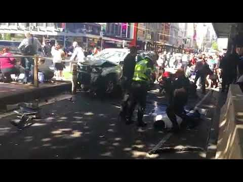 Melbourne car crash Vehicle driven into crowd of pedestrians in Australia in deliberate act