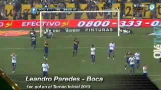 Gol de Paredes Boca 2-1 tigre Fecha 15 Torneo Inicial 2013