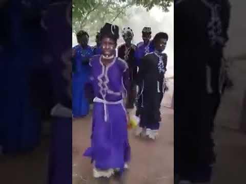 Fulani men dancing