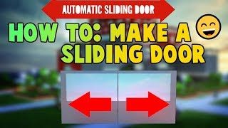 Roblox►How to make a Sliding Door. [EASY!!!]