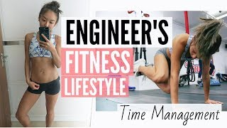 HOW I MANAGE MY TIME | TYPICAL DAY: FULL TIME ENGINEER vs. FITNESS | New Romwe Outfits! 💕