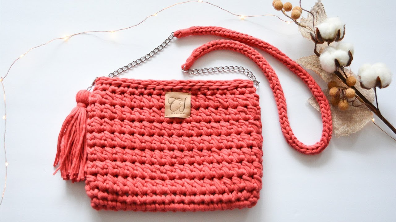 80a251263c CROCHET SHOULDER BAG WITH LINING