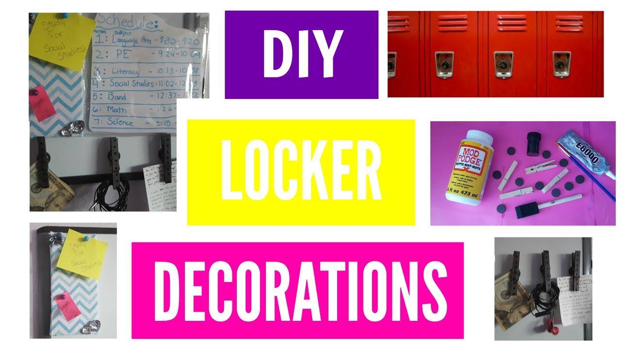 Diy Easy Locker Decor Back To School 2016 Youtube