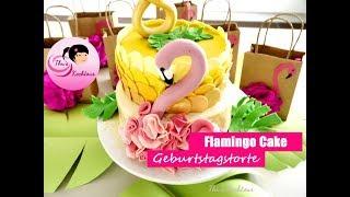 Flamingo Cake/ Geburtstagstorte/  Bánh ngọt hình con Hạc