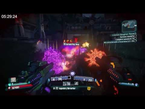 Borderlands 2 - Creature Slaughter Dome - Gunzerker OP8 - 5.34min |