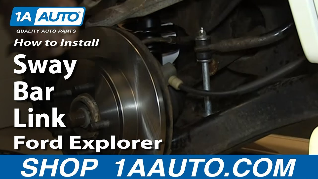 How To Install Replace Rear Sway Bar Link 200205 Ford