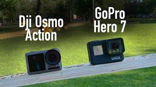Dji Osmo Action VS GoPro Hero 7 Black. Тест видео и звука!