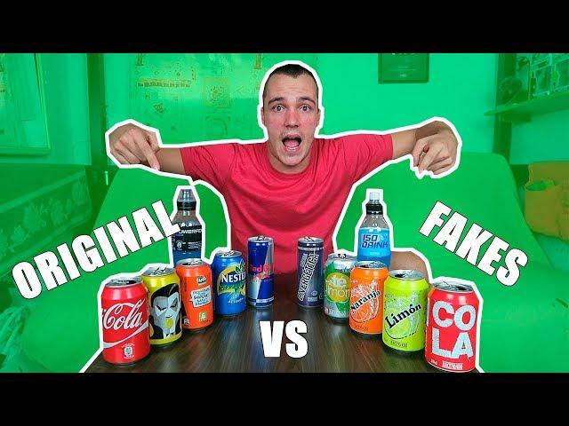 Probando REFRESCOS de marca ORIGINAL vs marca BLANCA y Si fallo MI NOVIA me castiga !!