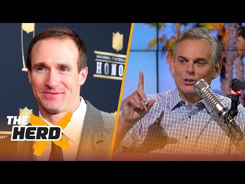 Colin Cowherd's full  with Drew Brees before the 2018 season  NFL  THE HERD