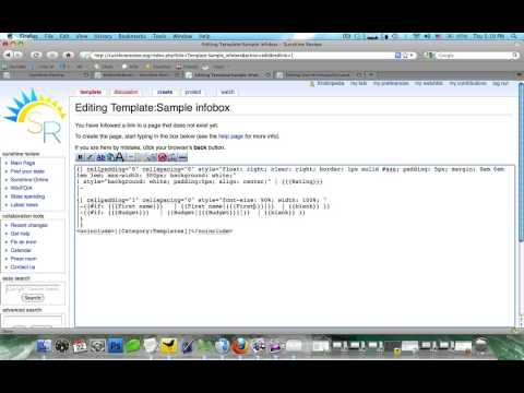 How to create and use infoboxes on a wiki - YouTube