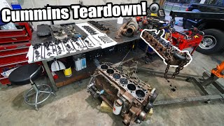 homepage tile video photo for CUMMINS Swapping a 6.4 FORD! Fummins Build Pt.6! Tearing Down the 5.9 CR Cummins!
