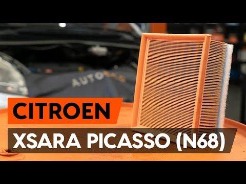 Как заменить воздушный фильтр двигателя на CITROEN XSARA PICASSO (N68) [ВИДЕОУРОК AUTODOC]
