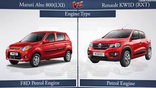 Maruthi Alto 800 & Renault Kwid Reviews & Comparisons