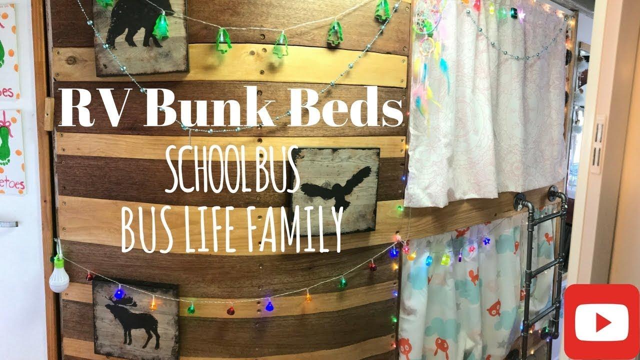 School Bus Conversion Bunk Beds Build Tour Bus Life