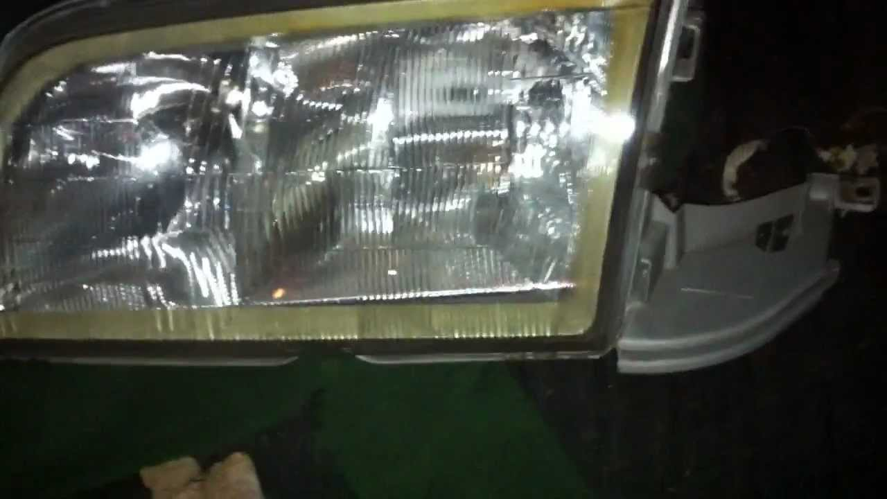 Mercedes W202  W126 W124 Headlight Lens Replacement