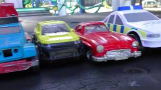 TOY CARS RIDE FROM SLIDE CARTEKA VIDEO FOR KIDS