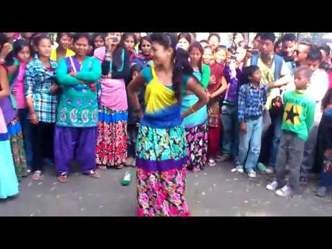 Maya Ram & Tharu Dance In Hindi Song Mere Sine Me