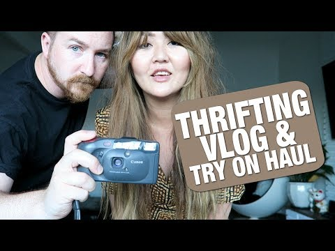 THRIFTING VLOG AND TRY ON HAUL