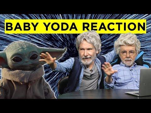 George Lucas & Harrison Ford React to Baby Yoda and Maclunkey - Deepfake Saga