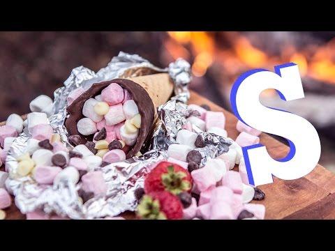 Sensational S'more Cones Recipe!!   Camp Food Pt.2