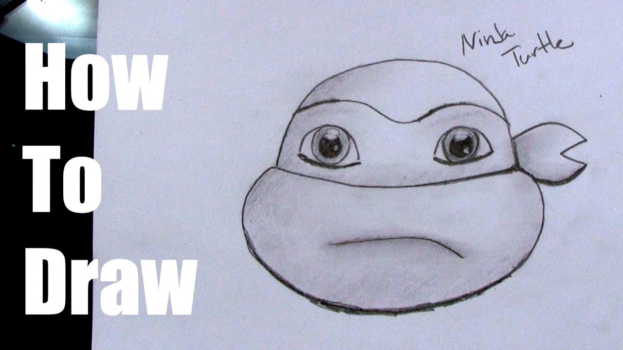 How To Draw a Ninja Turtle Head Easy YouTube