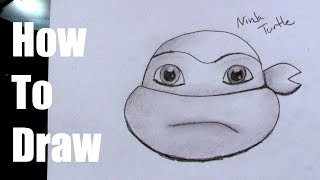 How To Draw a Ninja Turtle Head (Easy)