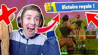 JE FAIS MON TOUT PREMIER TOP 1 SUR FORTNITE BATTLE ROYALE SANS BOBBY + KILLS ?! - Top 1 Fortnite #1