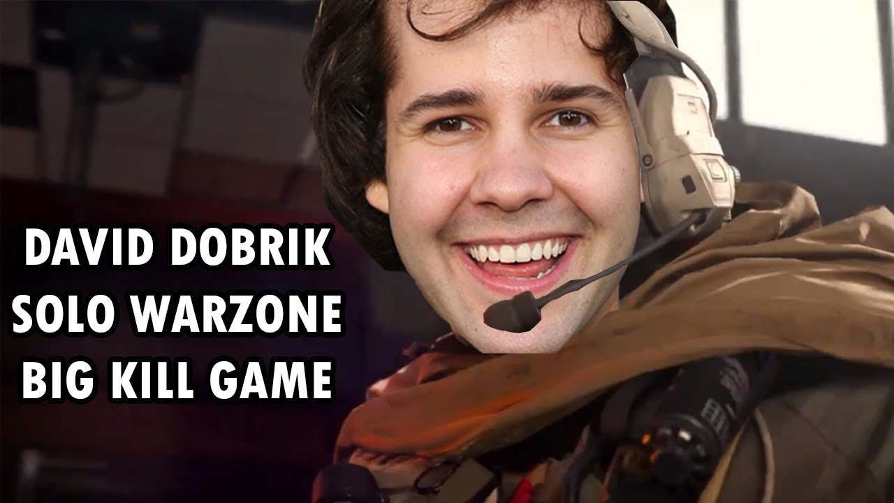 David Dobrik 11 Kill Solo Warzone Game with Intense Ending coming down to a 1v1