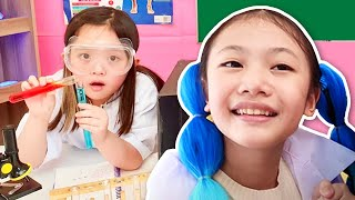 School is fun Science Experiments for kids with Bug's Family