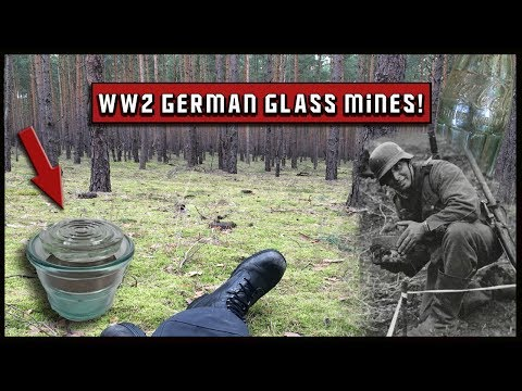 WW2 Metal detecting - German glass mines everywhere!