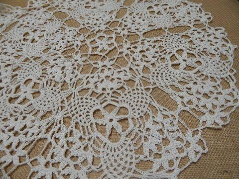Mantel circular triangulos crochet parte 1 de 2 youtube - Mantel de crochet ...