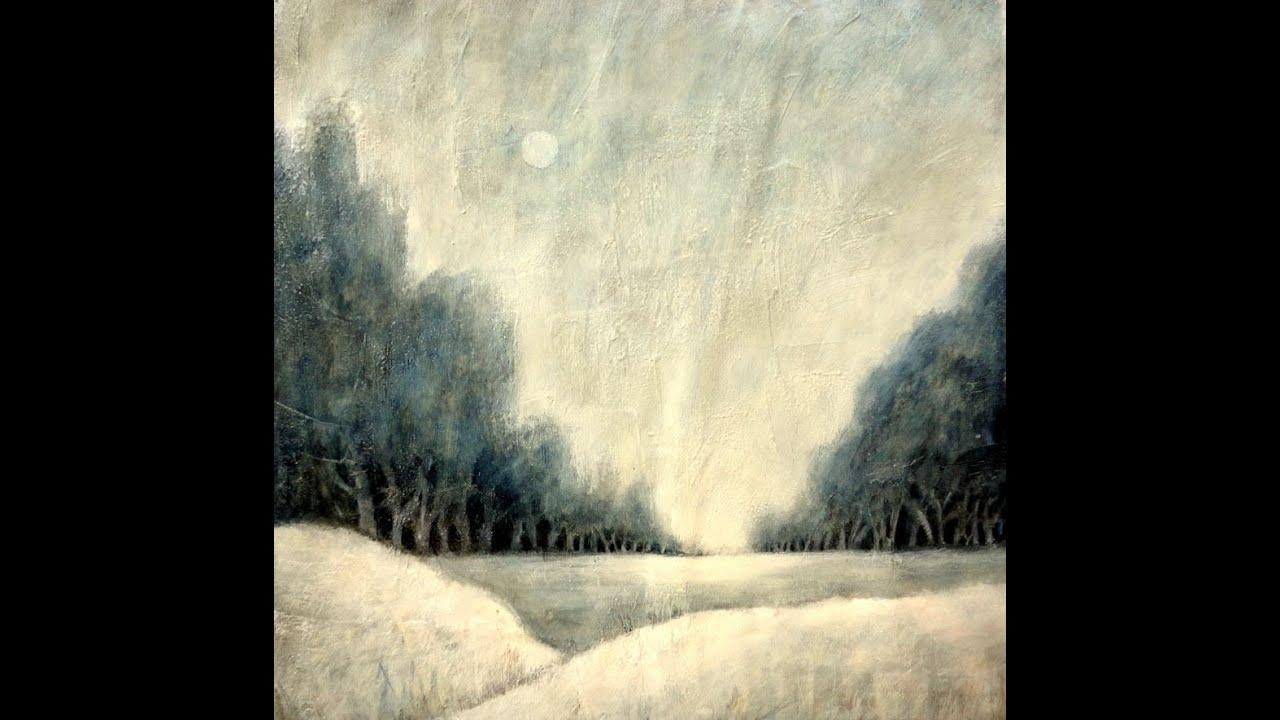 weihnachtsgru223 winterlandschaft in acryl christmas