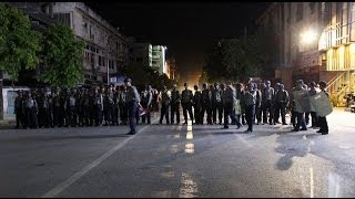 Police line streets of Mandalay after fresh riots