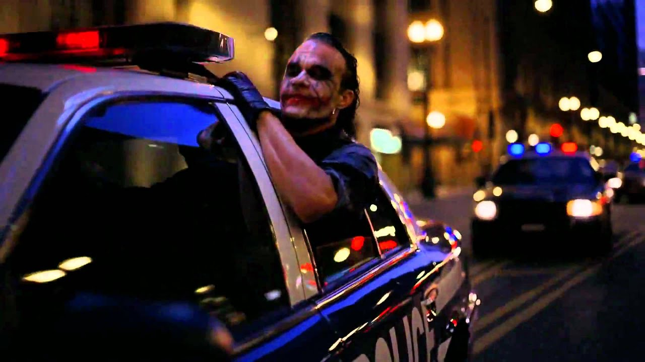 The Joker Driving A Cop Car