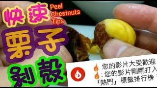 栗子剝殼🏆🏆🏆35(youtube龍虎榜)上榜影片🏅Peel Chestnuts Tips 栗子 動画 14
