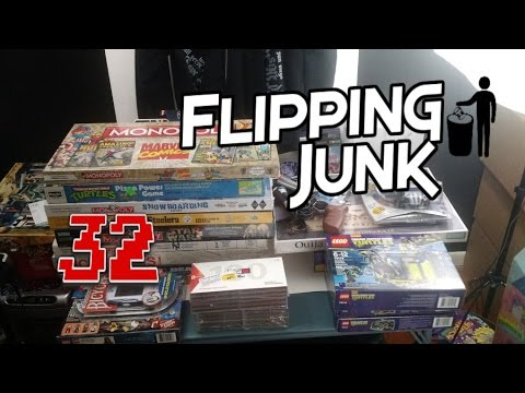 Flipping Junk – 32 – Ebay Sniping, Online Arbitrage, and Garage Sale Haul Video for FBA
