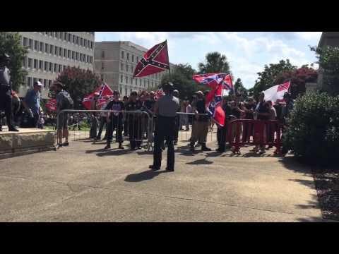 KKK behind barriers