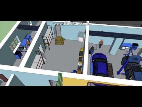 Осуществляем трехмерный дизайн-проект участков автосервиса